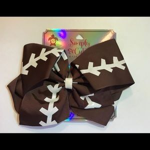 Simply Southern Football Bow NWT